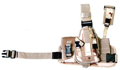 Desert drop leg holster + 2 pouches