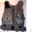 Deluxe Tactical Digital Woodland Camo Vest
