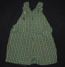 Old Navy Green, Yellow, and Blue short-alls! Cute! 12-18mo.