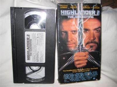Highlander 2 The Quickening VHS Tape Lambert Madsen Connery