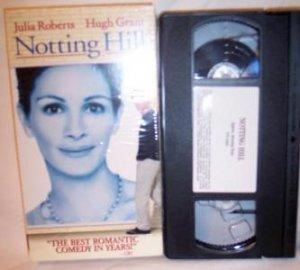 Notting Hill VHS tape Romantic Julia Roberts Hugh Grant