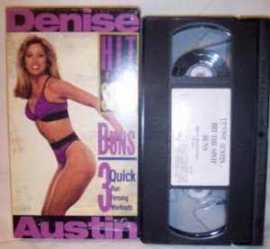 Denise Austin Hit The Spot Buns VHS Tape