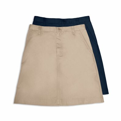 A Line Fly Front Skirt 7/8