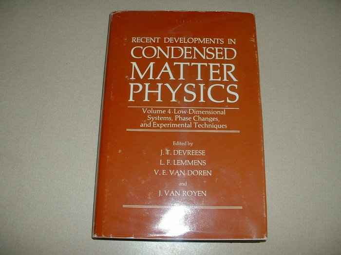 Recent Developments in Condensed Matter Physics, Vol 4 (0306406462)