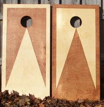 Stained Cornhole Set