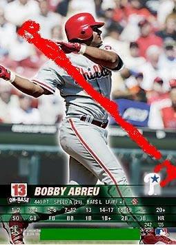 Bobby Abreu 2005 base set