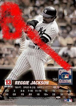 Reggie Jackson 2005 TD cooperstown collection