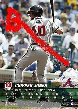 Chipper Jones base set 2004