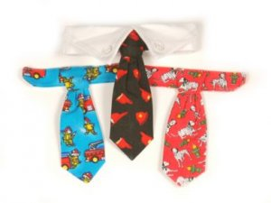 Sale Dog Fireman Tie Gift Set and Dog Collar Small