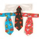 Sale Dog Fireman Tie Gift Set and Dog Collar XS