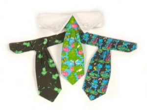 Frog - Dog Tie Gift Set and Dog Collar Small