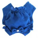 Blue Soft Suede Rhinestone Dog Panties Medium