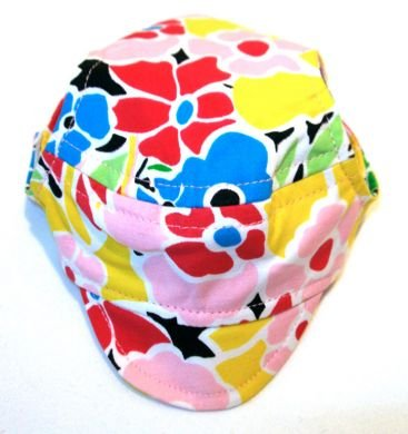 Flower Print Visor Cap small dog hat