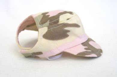 Pink Camo Visor Cap Large dog hat