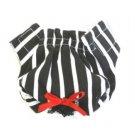 Black & White Striped  Puppy Panties /Dog Panties Large
