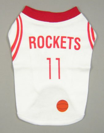 #11 Basketball Dog T-shirt Rockets Small