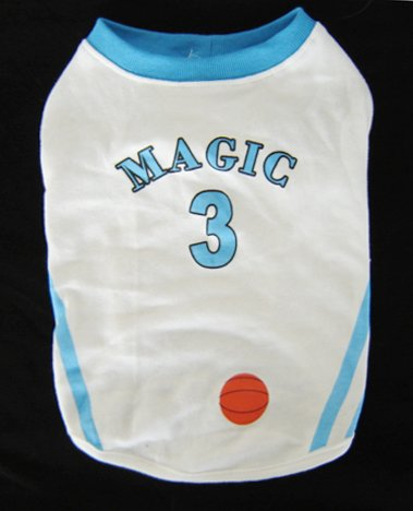 #3 Basketball Dog T-shirt Magic XSmall