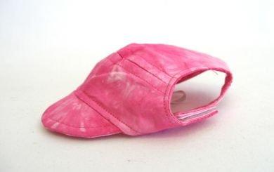Pink Tie Die Visor Cap Large dog hat