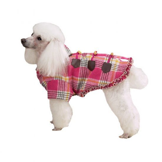 East Side Collection Plaid Toggle Coats Dog Coat Large
