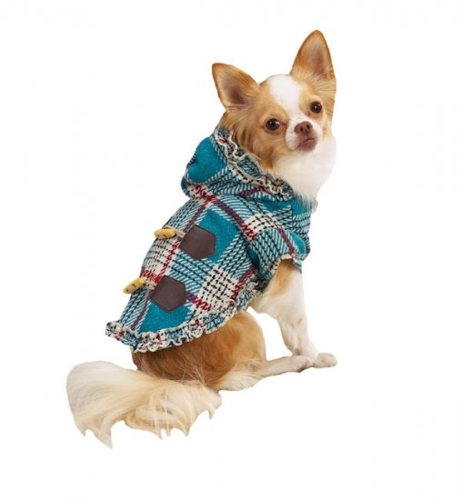 SALE East Side Collection Plaid Toggle Coats Dog Coat Large