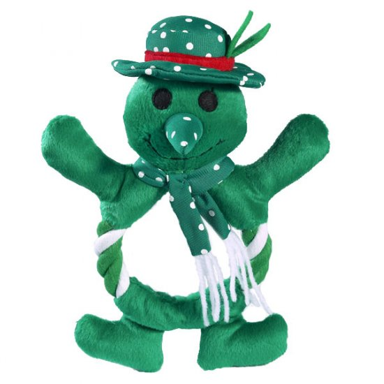 SALE Zanies Festive Fling-A-Rings Snowman Dog Toy