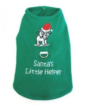 SALE Santa's Little Helper Harness-T Small Dog Shirt