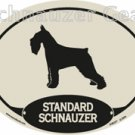 STANDARD SCHNAUZER Oval Decal Sticker - FREE SHIPPING