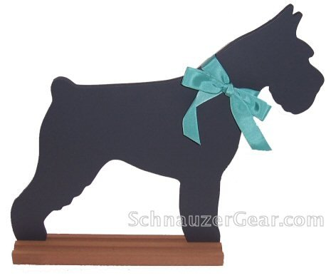 Cropped Miniature Schnauzer Chalkboard Wall Decor
