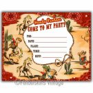 Vintage Retro 1950s Cowboy Wranglers Party Invitations