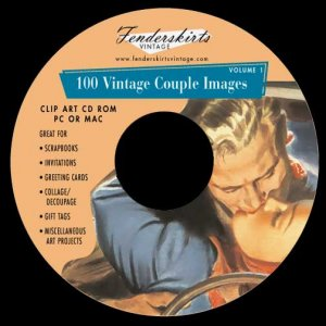 Vintage Retro 1950s Couple Images Clipart Clip Art CD