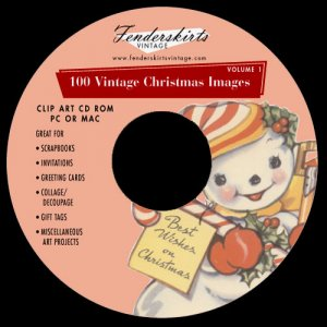 Vintage Christmas Cards Images Clipart Clip Art CD