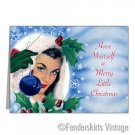 Vintage Retro 1950s PinUp Girl Christmas Cards