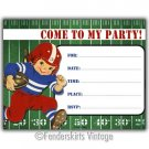 Vintage Retro Football Boy Birthday Party Invitations
