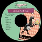 DIY Print Your Own Vintage GIFT TAGS Baby/Birthday CD