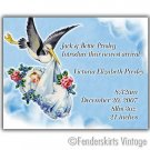 Custom Vintage Baby Stork Birth Announcements