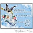 Custom Vintage Baby Stork Birth Announcements