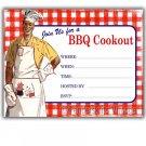Retro Vintage 1950s BBQ Cookout Party Invitations