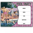 Retro Vintage 1950s Pool Party Invitations