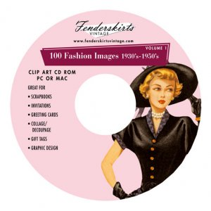 Vintage 50s 1950s Fashion Clothing Clipart Clip Art CD