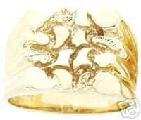 Men's 14K Gold Bold Nugget Ring - 10.2 grams