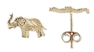 14K Italian Gold Elephant Stud Earrings