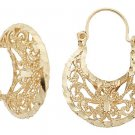 14K Gold Filigree Earrings