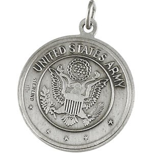 Sterling Silver US Army/St Christopher 2 Sided Medal