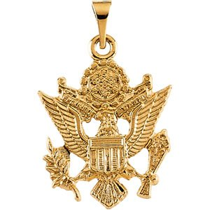 14K Gold US Army Pendant