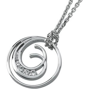 Journey Diamond Double Coil Pendant