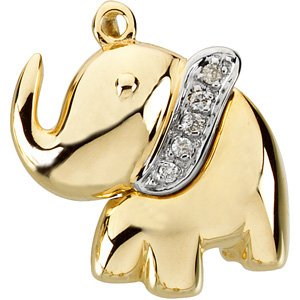 Ellie the Elephant Waggle� Pendant