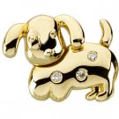 14K Gold Dottie the Dog Waggles™ Pendant