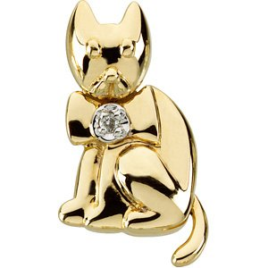 14K Gold Catsandra the Cat Waggles� Pendant