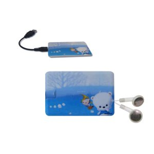 1GB Business card MP3 Movable electronic hard disk USB2.0 FLASH DISK,MP3/WMA