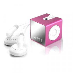 Super Mini OLED Display MP3 Player 1GB -Sexy Pink